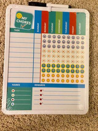 Magnetic Dry Erase Weekly Planner Chore Chart