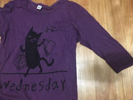 紫色貓咪T