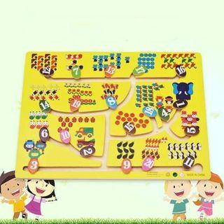 Numbers Matching Slide Board