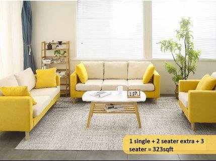 PO - Simple Modern Nordic Economical Sofa for 1 2 3 Seater