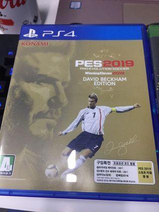 PS4 PES2019 David Beckham Edition