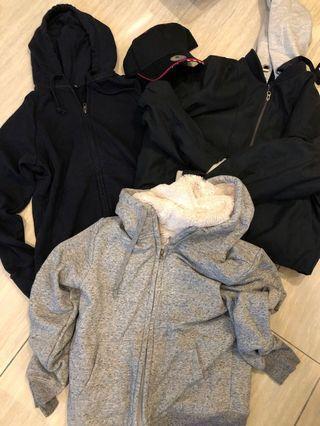 Mixed lot hooded tops jacket Uniqlo GU size Medium