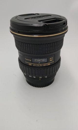 Tokina  12-24mm F4 for Nikon over 90%new