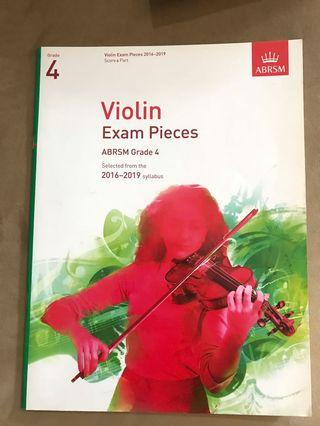 ABRSM Pieces (Sheets + score) for violin Grade 4