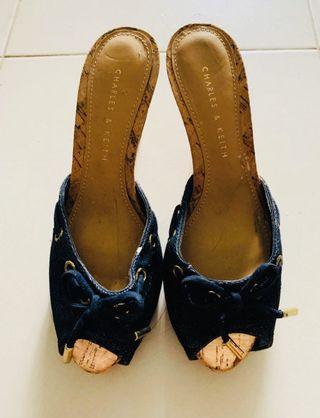 BN Charles & Keith Denim Heels 👠#style