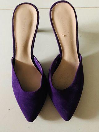 Charles & Keith Purple Slip On Heels 👠 #style