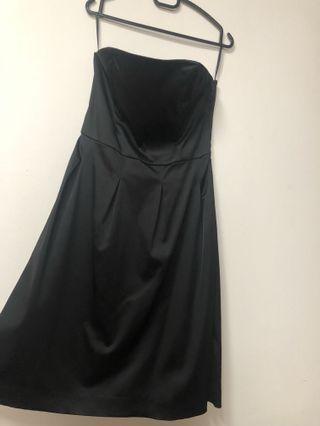 Black Silk Tube  Dress