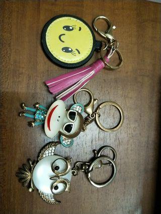 各種鑰匙圈