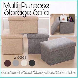 Sofa Seat Stool Organizer Bench