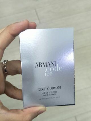 Armani Code Ice Giorgio Armani Edt Sample Perfume Spray