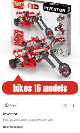 ENGINO 1632 Inventor 16 Models Motorbikes, MULTI-COLOUR