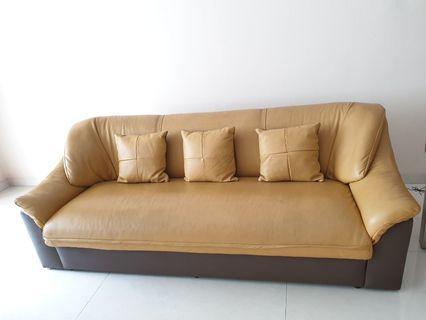 Sofa 3 seater (kulit asli)