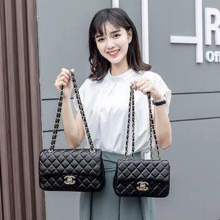 Bag female 2019 on the new small fragrance rhombic chain bag fashion wild single shoulder Messenger bag handbag red tide