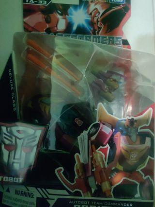WTS transformers animated optimus Voyager and rodimus deluxe