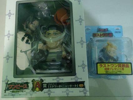 Wts ichiban kuji one piece kyun-chara whiteboard Ace and marco