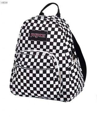 Jansport mini 黑白格仔Backpack