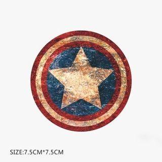 Marvel Captain America Shield Sticker Luggage Macbook Laptop Stickers
