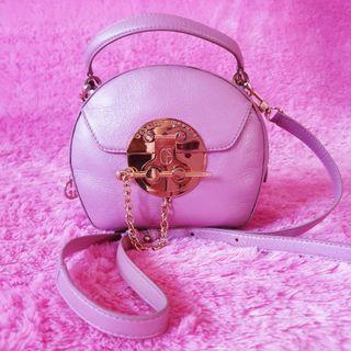 Gobelini Purple Round Box Sling Bag Original