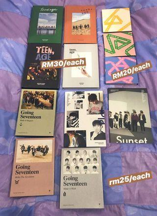 CLEARANCE wts seventeen albums