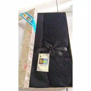 Mukena Zara silk poeti hitam