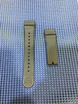 Seiko 精工 原廠 黑色 矽膠 22mm 錶帶