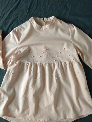 Peach Blouse with beads
