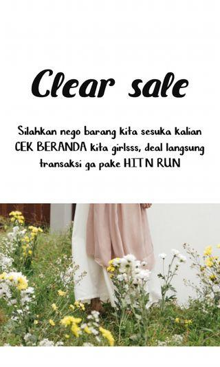 Clear sale!!! Attention..