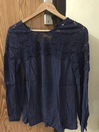 Navy Blouse HnM