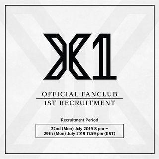 X1 Fanclub 1st Recruitment