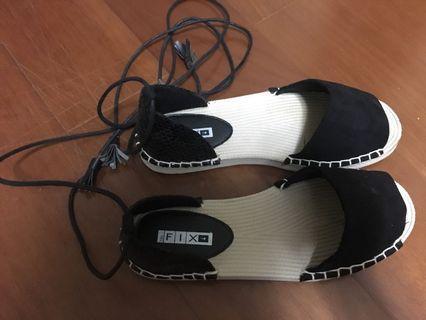 俄羅斯品牌🇷🇺9成新✨FIX綁帶式類編織底(橡膠)超輕量涼鞋Zara H&M Mango Stradivarius Zalora