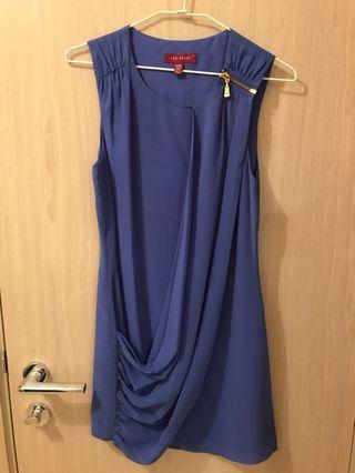 Ted baker blue dress (size 0)