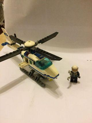 Lego city 7741 police helicopter 直升機
