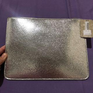 NEW WITH TAG Accessorize clutch silver