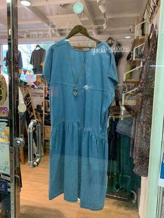 韓國薄料牛仔裙