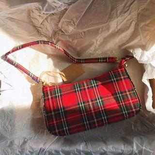 Checkered Shoulder Bag