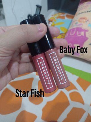 Emina Creamatte (09 Baby Fox dan 10 Starfish