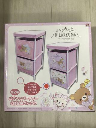 日本直送 鬆弛熊 牛奶熊 兩層收納架 收納盒 置物架 收納盒 SAN-X 儲物箱