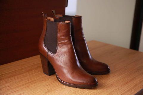 全新Frye 純真皮短靴 性格棕 修身秋冬必上腳