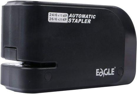 🚚 Eagle Automatic Stapler, Heavy Duty, Electric, 20 Sheet Capacity, Battery or AC Powered, Black