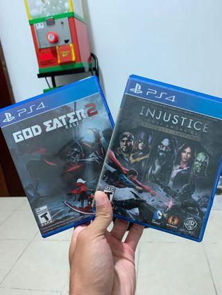 PS 4 God Eater 2 and Injustice