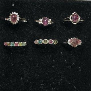 Natural Tourmaline rings 碧玺戒指