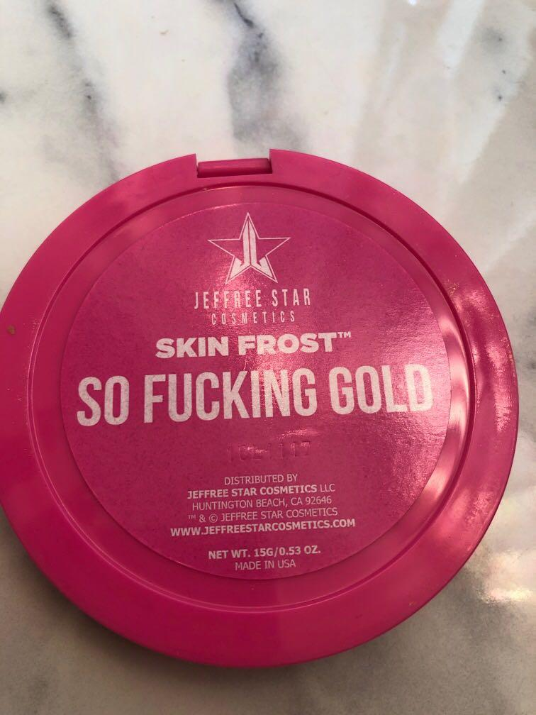 Authentic Jeffree Star So F*cking Gold Highlighter