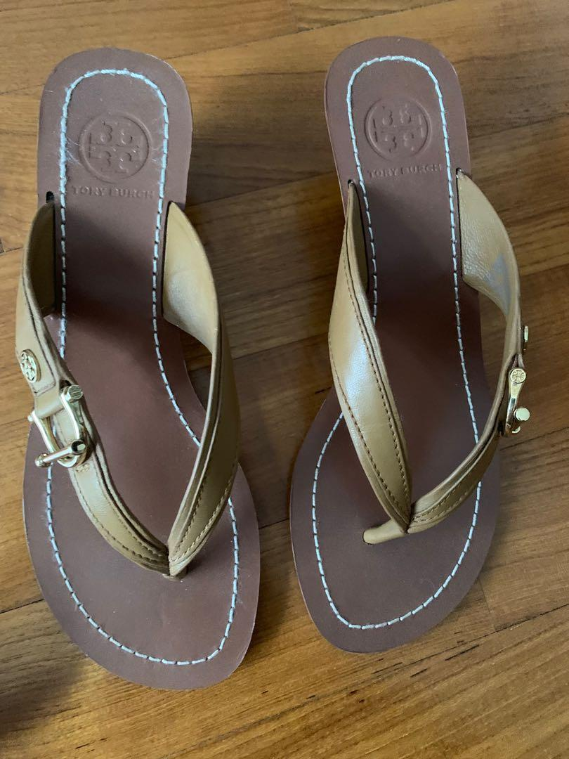 Authentic Tory Burch sandals with heels size: 6M US