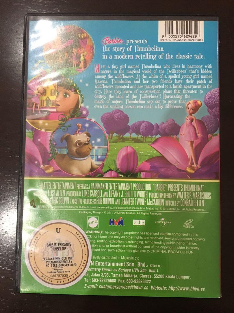 Barbie Thumbelina DVD Set