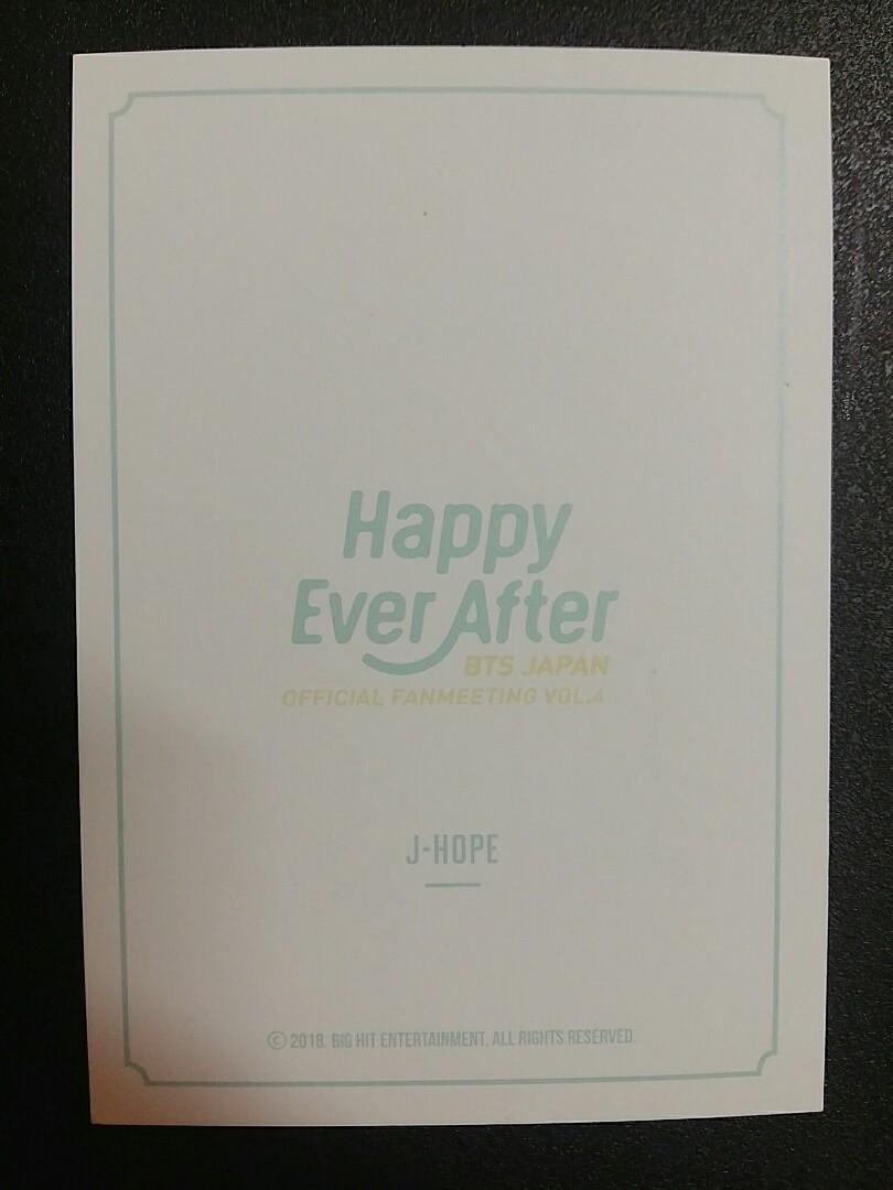 BTS JHOPE HOSEOK 4TH MUSTER IN JAPAN BINDER PC