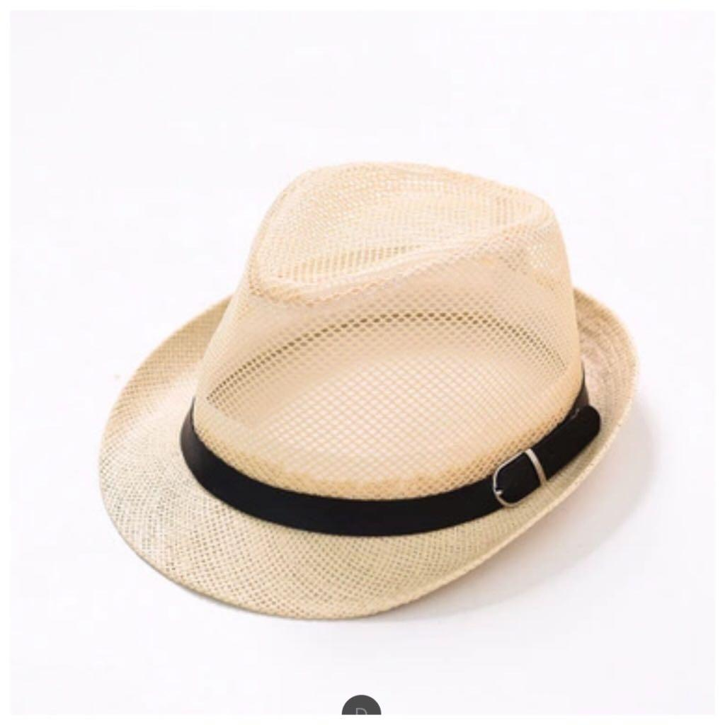 Casual Mesh/Straw Sun Hats leather summer unisex breathable ventilation