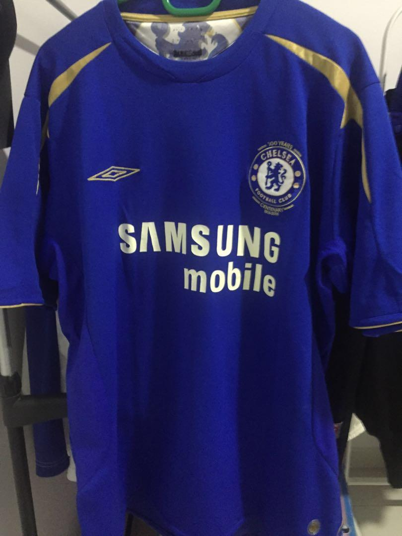 new style 8e804 8d28d Chelsea 2005/2006 Home Kit Centenary Jersi Jersey on Carousell