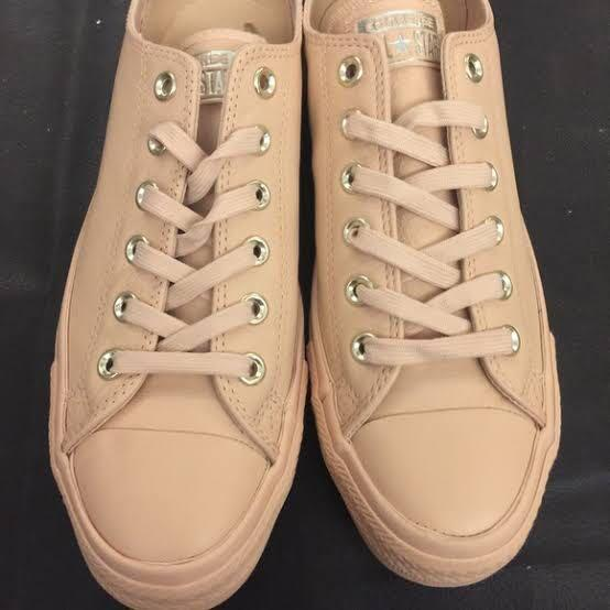 great prices website for discount fashion style Converse Nude Leather on Carousell