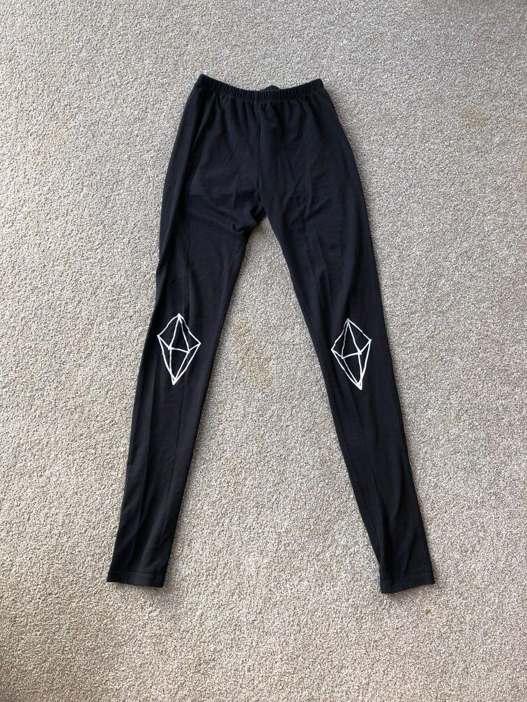 Diamond Knee Detail Highwaist Federation Leggings