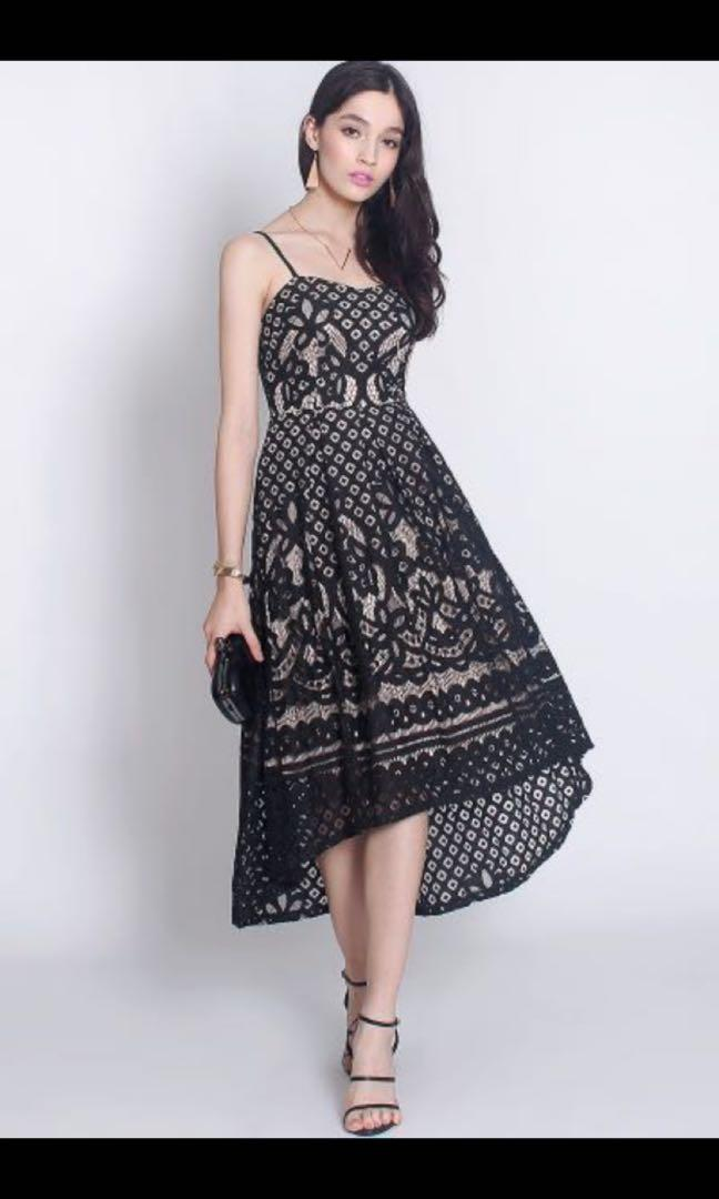 Fayth Cadence Black Lace Dress